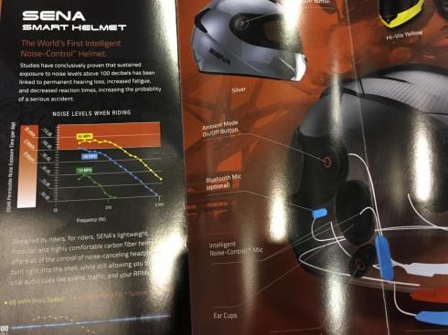 Sena's noise-cancelling helmet